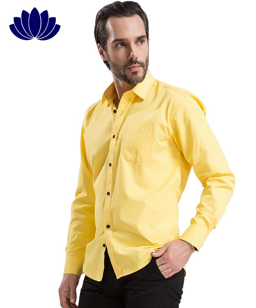 New Arrival Men Dress Shirts Formal Business Long Sleeve