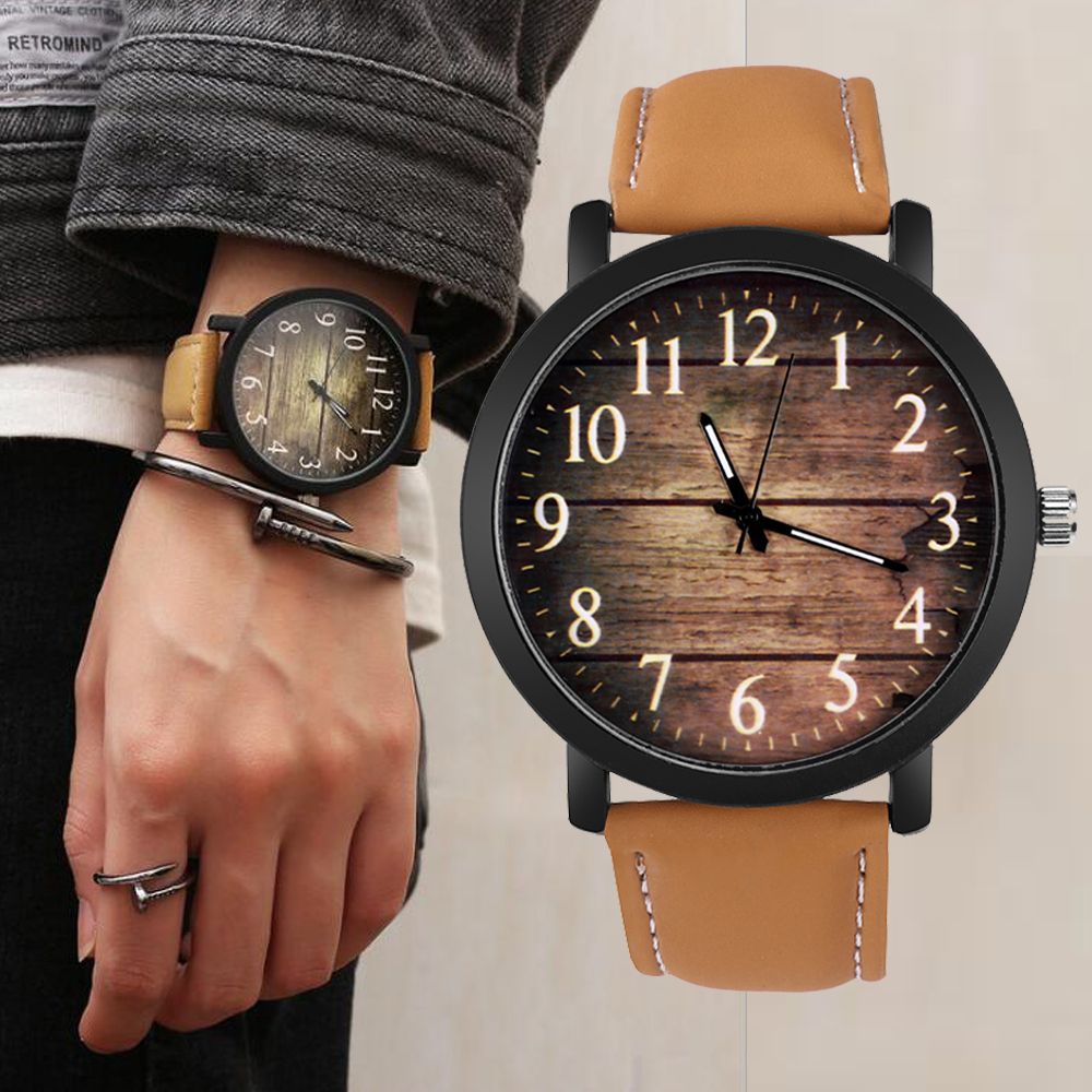 Relogio Masculino Men Watch Relojes Hombre Leather Quartz Reloj Hombre Men's Watch Relojes Sports Male Clock Erkek Kol Saati