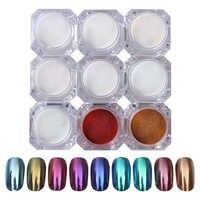 1g espejo uñas brillo polvo oro azul púrpura cromo pigmento manicura uñas arte brillo decoraciones 1 caja