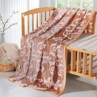Elegant Antique Arabesques Pattern Fuzzy Plush Velvet Velour Blankets For Bed Couch Single Twin Full Queen