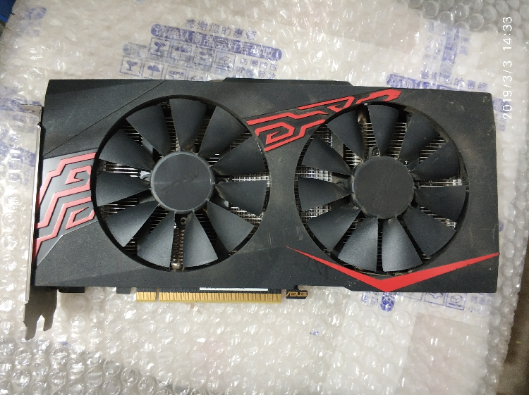 ASUS  RX570 4G Raptor game card used 90%new(China)