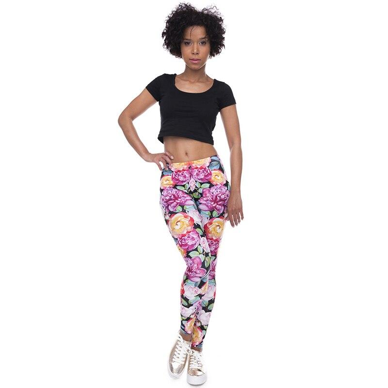 Vintage Roses Boho High Orange Lady Fleur And Leggings Et Femmes Pink Street Casual Mode Rose vYw7fqx5g