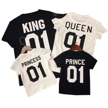 Matching Outfits Daughter-Dresses King-Queen Family-Look T-Shits Prince Mommy Me And