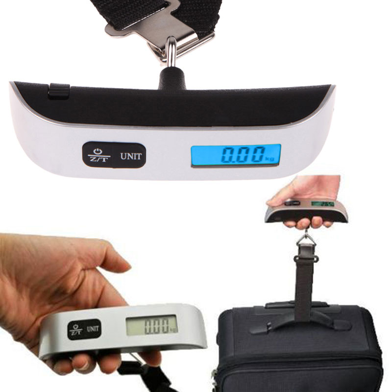 New Portable 50kg X 10g Hanging Scale Digital Lcd Display Electronic Luggage Suitcase Travel Bag Weight In Weighing Scales From Tools On