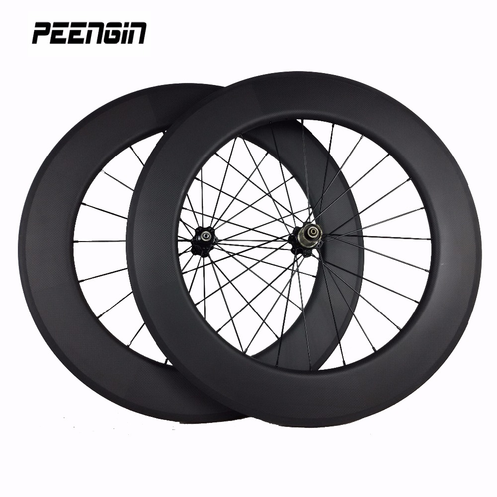 Excellent Quality!carbon 88mm Wheels 25mm Wide U Shape Clincher Tubeless Road/triathlon Wheelset Special Design Wider/stronger 100% Guarantee
