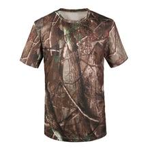 JHO-новинка, уличная камуфляжная футболка для охоты, Мужская дышащая армейская тактическая Боевая футболка, военная сухая Спортивная камуфляжная футболка для кемпинга