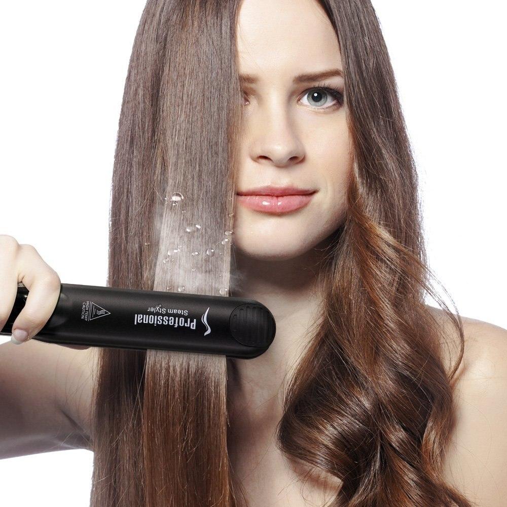 Professional Steam Hair Straightening Iron Fast Heating Ceramic Flat Irons Hair Straightener Styling Tool