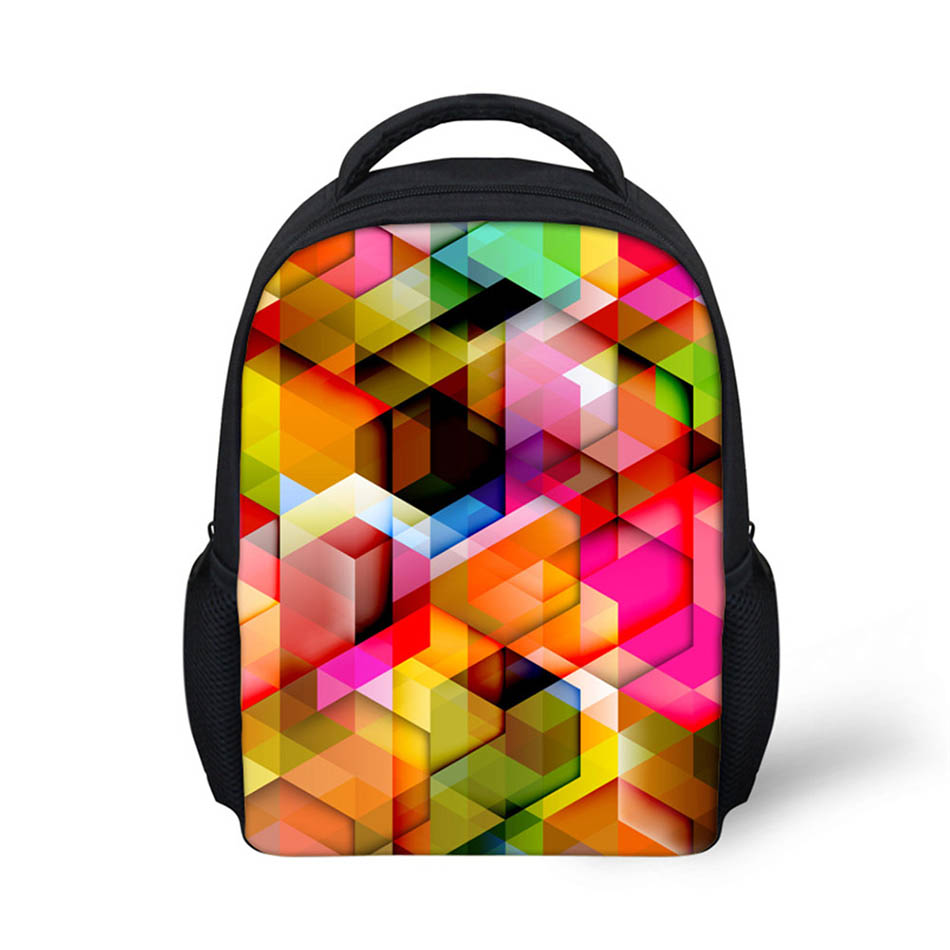 Noisydesigns Graphical 3D Printing Shoulder Backpack for Teen students kid gifts bag Customize image Children Schoolbag
