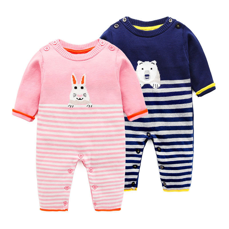 Newborn knitting  jumpsuits boys and girls romper spring and autumn clothing for baby cotton vlong sleeve newborn winter autumn baby rompers baby clothing for girls boys cotton baby romper long sleeve baby girl clothing jumpsuits