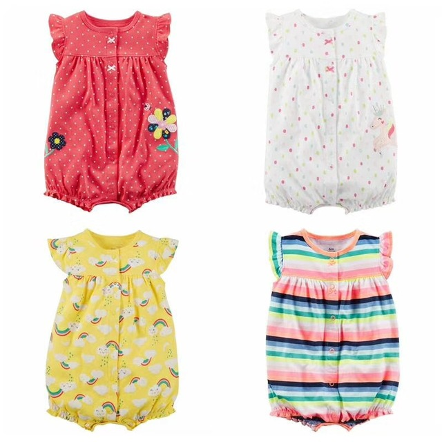 2d79abf4810f7 2018 summer Baby girl clothes one-pieces jumpsuits baby clothing Cotton  short sleeve romper vestidos meninas roupas bebe