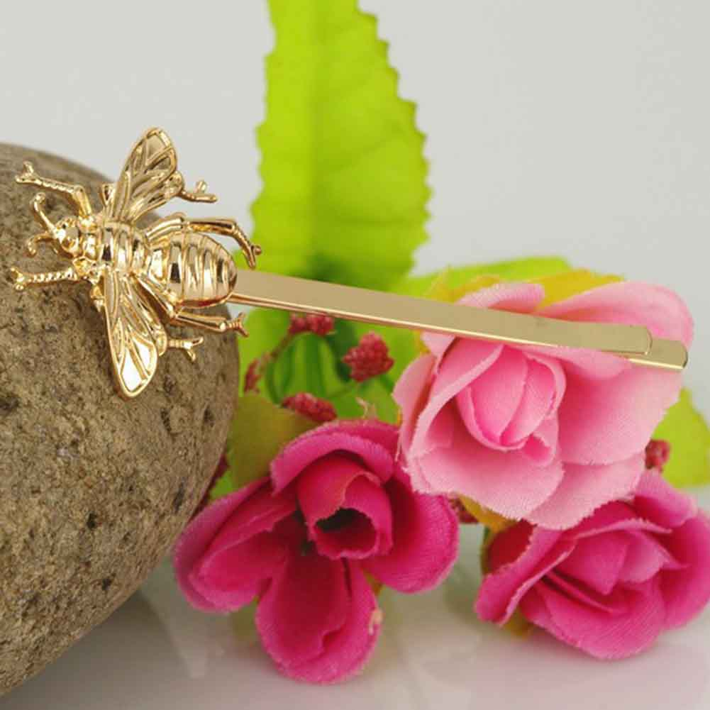 Hair Clip Stylish Little Bee Shape Hairpin Hair Accessories For Women Solid Color Bow Pinzas Para El Cabello