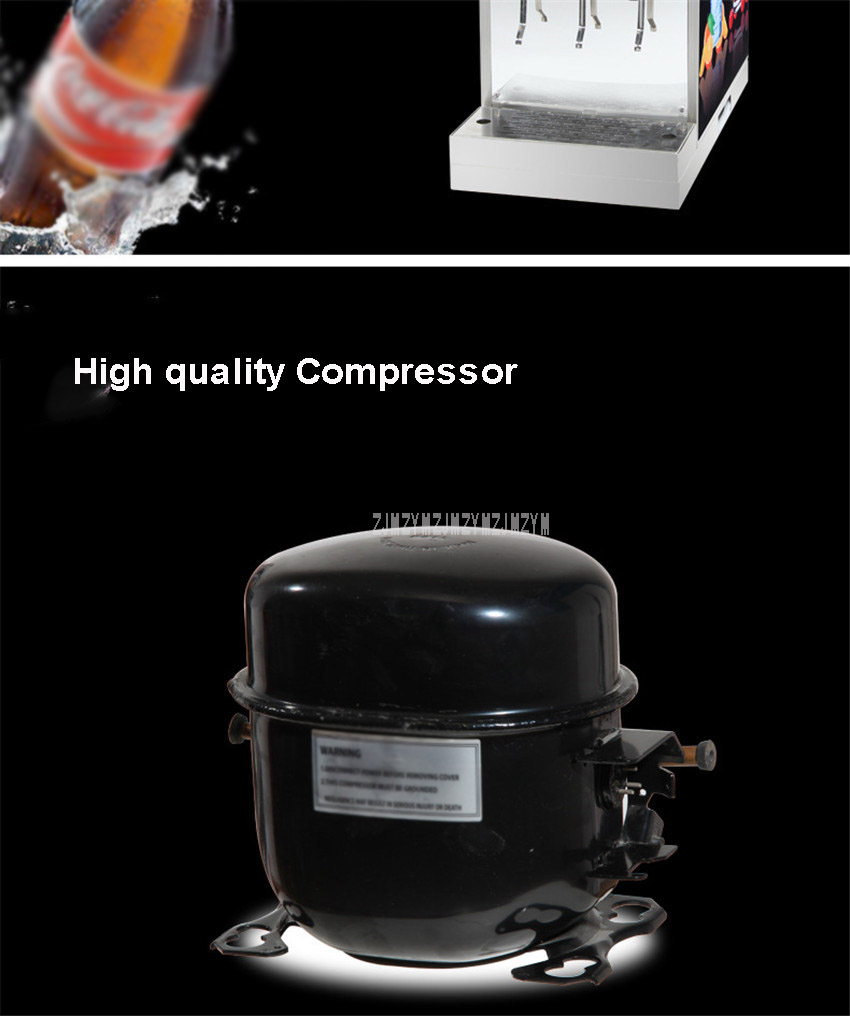 220V 0.45KW Commercial 3 Dispenser Cola Making Machine Automatic Electric Cold Cola Carbonated Drink Maker Machine IHKLJ-3B3 6