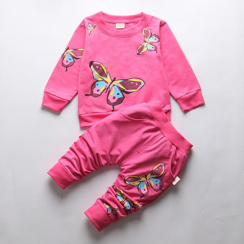 BibiCola Autumn Baby Girls Clothing Sets Spring Kids Girls Clothes Baby Girls Clothing Sweatshirts+Pants Trackuit Girl Sport Set стоимость