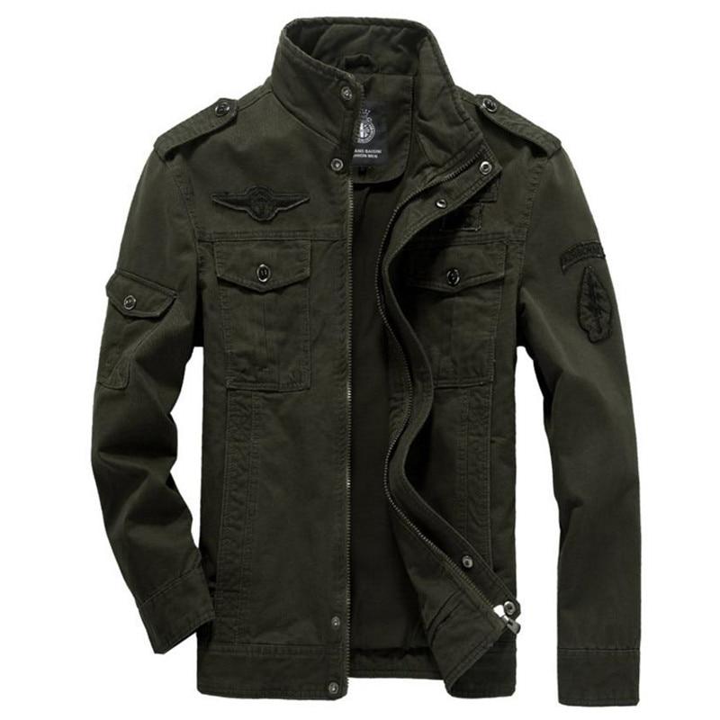 New mens green khaki 3 colors Military jacket winter casual Men jackets army Brand Clothing coat