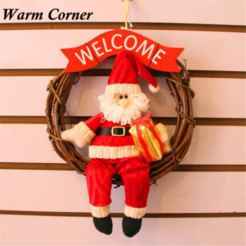 2017 Christmas Decor Xmas Door Wreath Christmas Garland Party