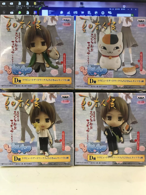 4pcs/set Natsume Yuujinchou with Nyanko Sensei Anime Action Figure PVC New Collection figures toys Collection for Christmas gift
