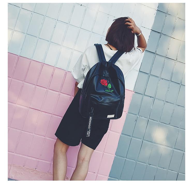 bordado saco de escola para meninas adolescentes bolsas