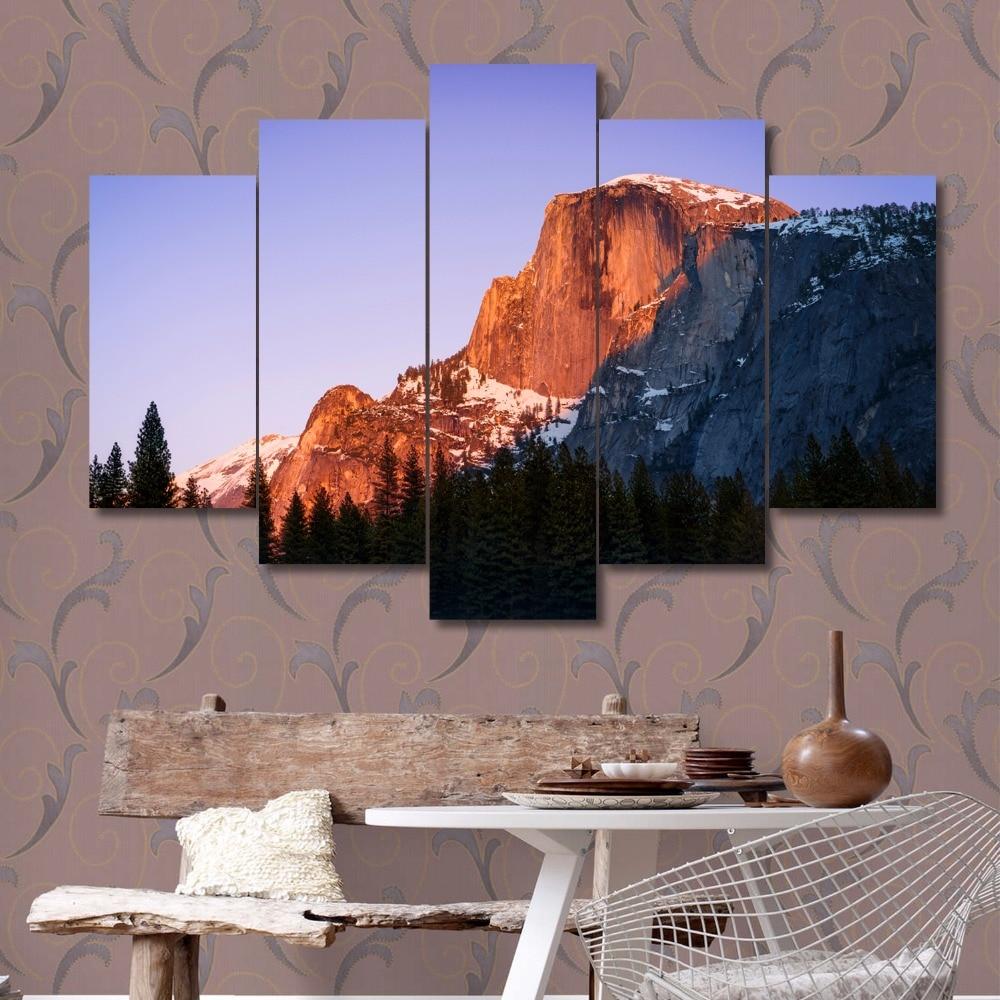⑧Sans cadre montagne de neige photo impression sur toile