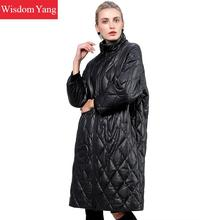 Winter Black Plaid Real Sheepskin Genuine Leather Down Coat Trench Warm Long Women Casual Ladies Elegant Overcoat Coat Outerwear