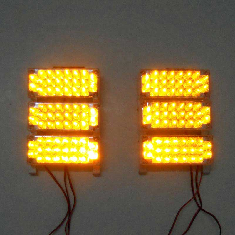 ФОТО Amber 6x22 132LED Flash Emergency Strobe Grill Rear Light Yellow White Blue Amber Red Green
