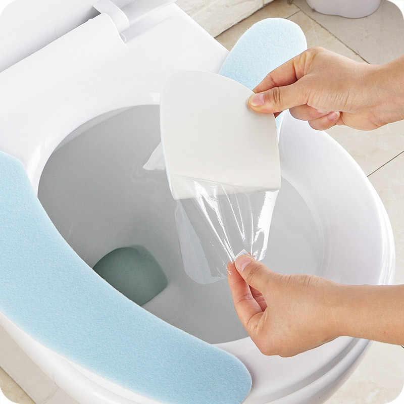 暖かい洗える粘着トイレマット便座カバーパッド家庭用再利用可能なソフト便座カバー U1936