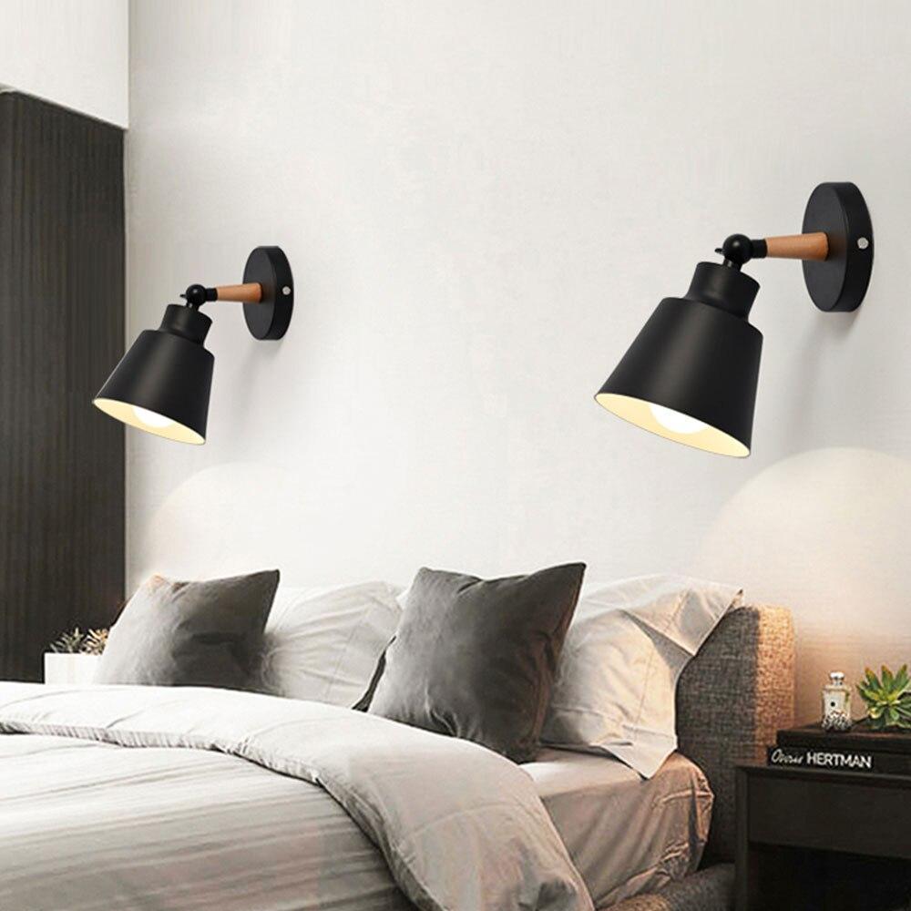 LED Wandleuchte Holz Nordic Wandleuchten Makronen Moderne ...