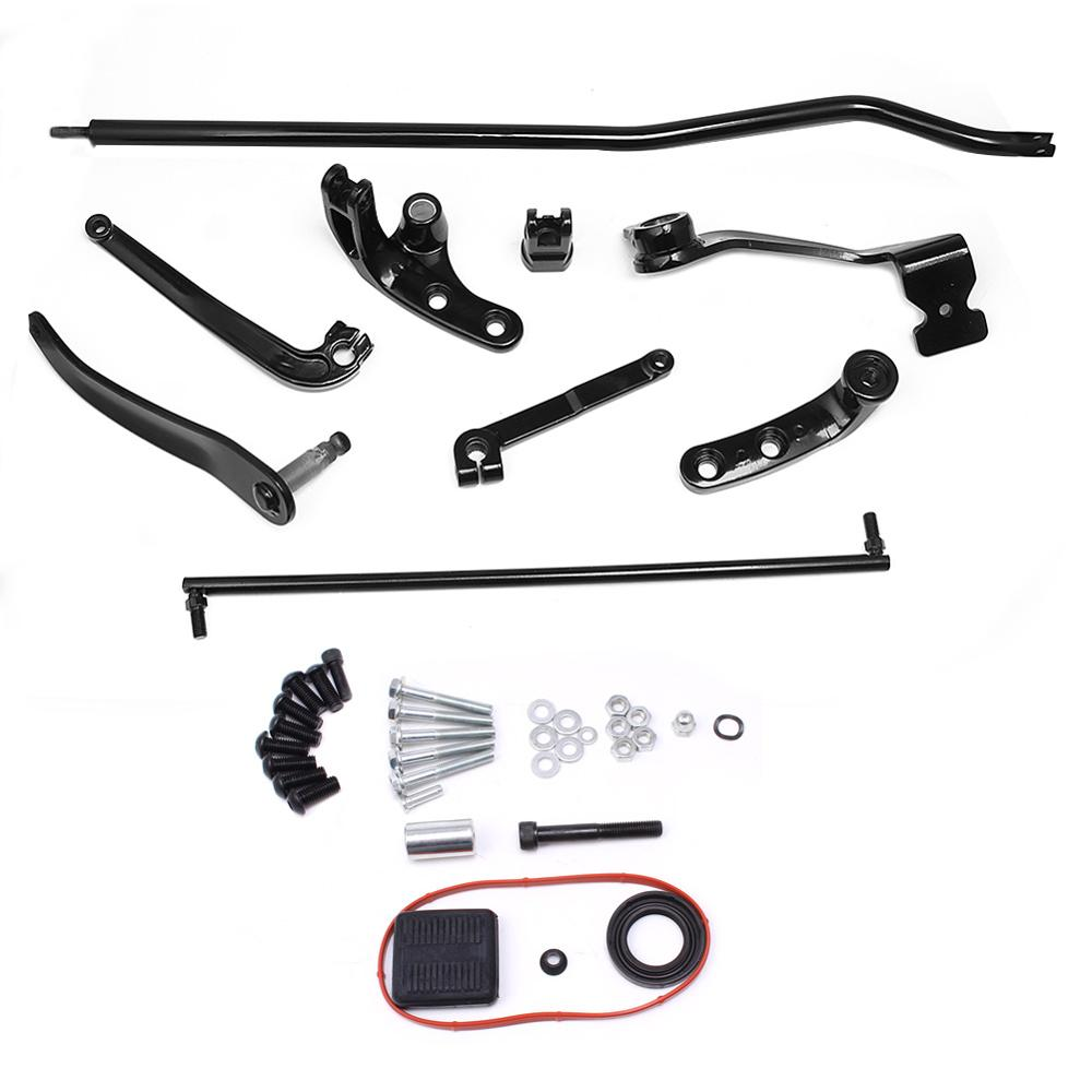 Motorcycle Black Forward Controls Complete Kit Levers Linkages For Harley Dyna Street Bob 2006-2017 FXDB Model