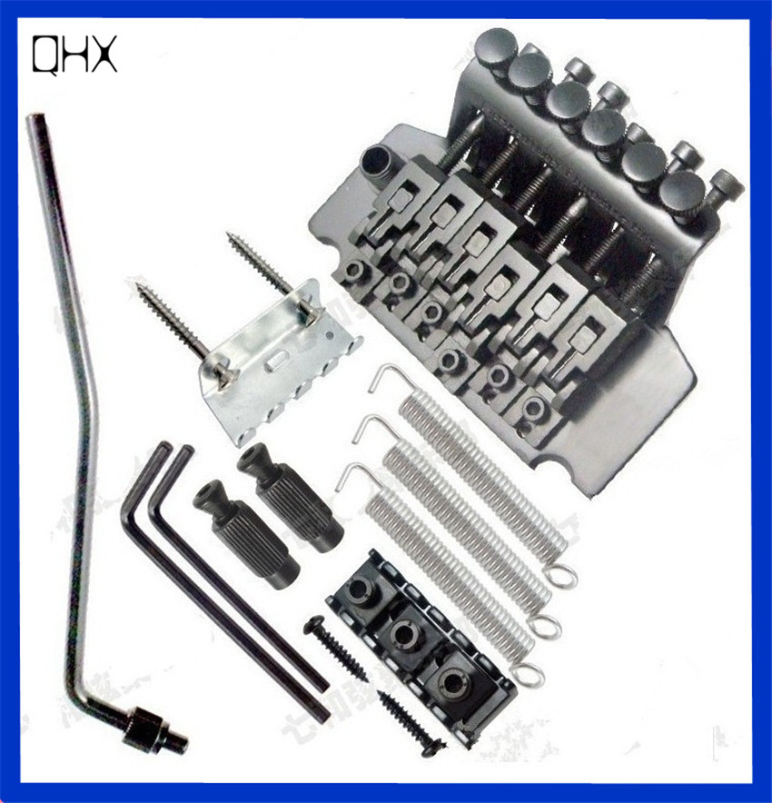 QHX Floyd Rose Tremolo Bridge Double Locking Systyem Pulled guitar strings Bridge Electric guitar Bridge guitar accessories part chrome vintage floyd rose lic electric guitar tremolo bridge double locking assembly system free shipping wholesales