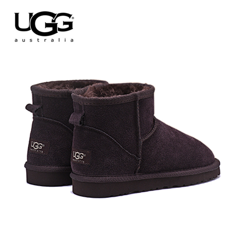 Bottes pour femmes en cuir bottes UGG classiques 5854 chaussures de neige en fourrure bottes d'hiver chaudes pour femmes bottes australiennes en peau de mouton courtes Uggs