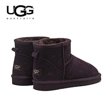 ee0bc99fa Ugged mujeres botas de cuero clásico UGG 5854 botas de nieve zapatos de piel  caliente mujer botas de invierno es corta de piel de oveja australiana botas  ...