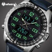 Мужские часы от ведущего бренда, роскошные аналоговые цифровые военные часы для мужчин, тактические часы для пилота, мужские часы