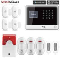 Smarsecur home security alarm SMS GSM WiFi wireless home alarm system