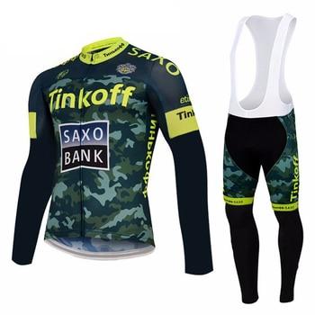 Tinkoff 2019 Pro equipo de Ciclismo de manga larga Ropa de bicicleta...