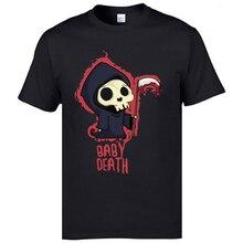 Interesting T-Shirts Baby Death Punisher Grim Skull Reaper Comic Tshirts For Boy Fashion Loose No Pocket Tee Shirt Oversized