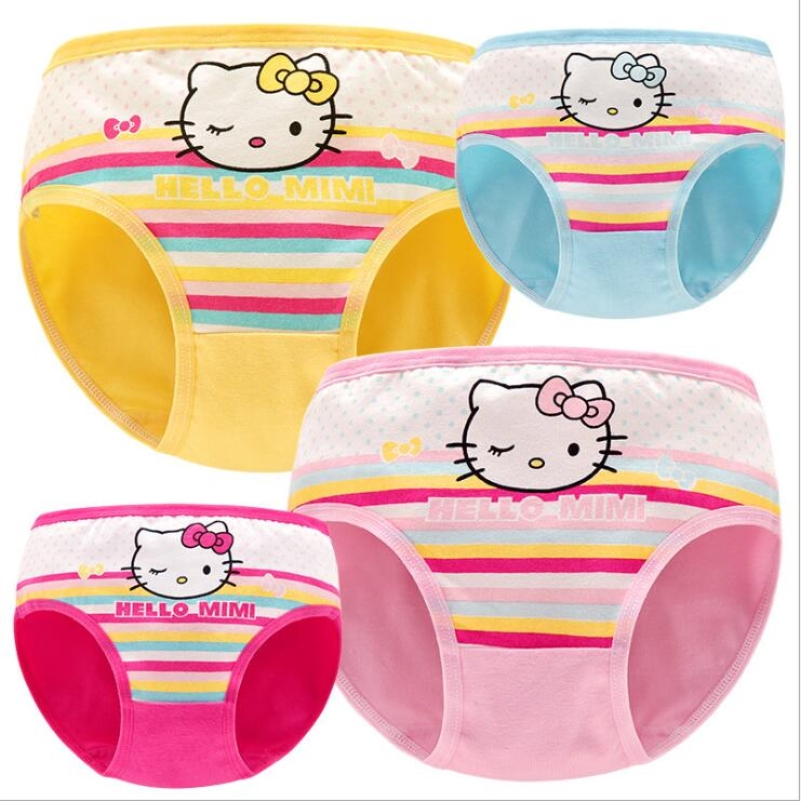 4 Piece/lot Girl Panties Cotton Cartoon Children's Clothing Underwears 2-9 Years Girl Shorts