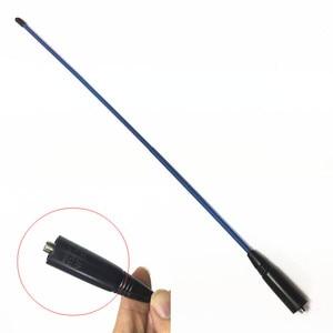 Image 2 - Antenne à gain bleu SMA F antenne 400 470MHZ pour baofeng UV5R A58 BF9700 UV82 BF888S UV6R radios