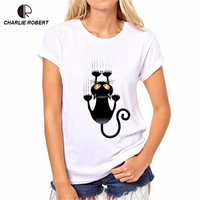 CR Naughty Black Cat 3D T Shirt Size XS 4XL Women Lovely Shirt Good Quality Comfortable