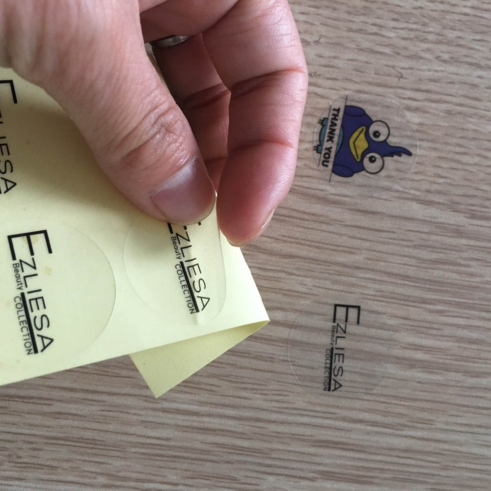 Custom clear pvc stickers with your logo for packing and wedding stickers transparent customization of individual character