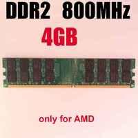 RAM DDR2 4 Gb 800MHz ddr2 800 4gb mémoire ddr2 4G/seulement pour AMD/pc2 6400 memoria 4 Gb ram 800Mhz ddr 2 mémoire PC2-6400