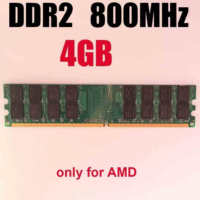 RAM DDR2 4Gb 800MHz Ddr2 800 4gb Memory Ddr2 4G / Only For AMD / Pc2 6400 Memoria 4 Gb Ram 800Mhz Ddr 2 Memory PC2-6400