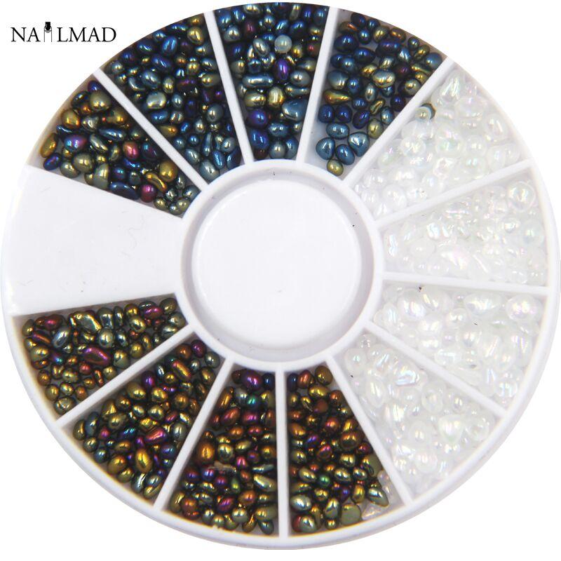 1box NailMAD الحرباء البسيطة الحجارة زينة - فن الأظافر