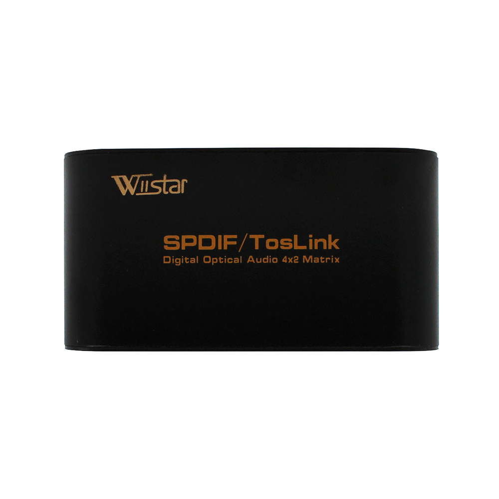 200 pz SPDIF TOSLINK Audio Digitale Ottico Vera Matrice 4x2  Switcher Splitter 4 In 2 Out 4 a 2 f4366debd84
