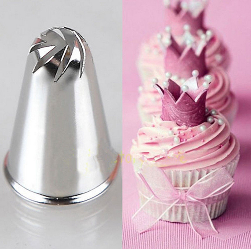 Stainless Steel DIY Flower Spiral Icing Piping Nozzles Pastry Nozzle <font><b>Fondant</b></font> <font><b>Cake</b></font> <font><b>Decorating</b></font> <font><b>Tool</b></font> image