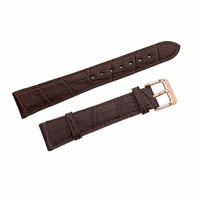 Leisure Automatic Mechanical Genuine Leather Waterproof pin Watch band 22cm fit for men watches
