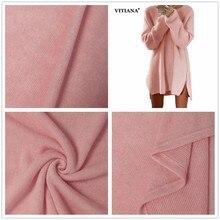 VITIANA Woman Plus Size 3XL 4XL Casual Short Thin Sweater Tops Female 2017 Autumn Winter Loose Long Sleeve Zipper Sweater Dress
