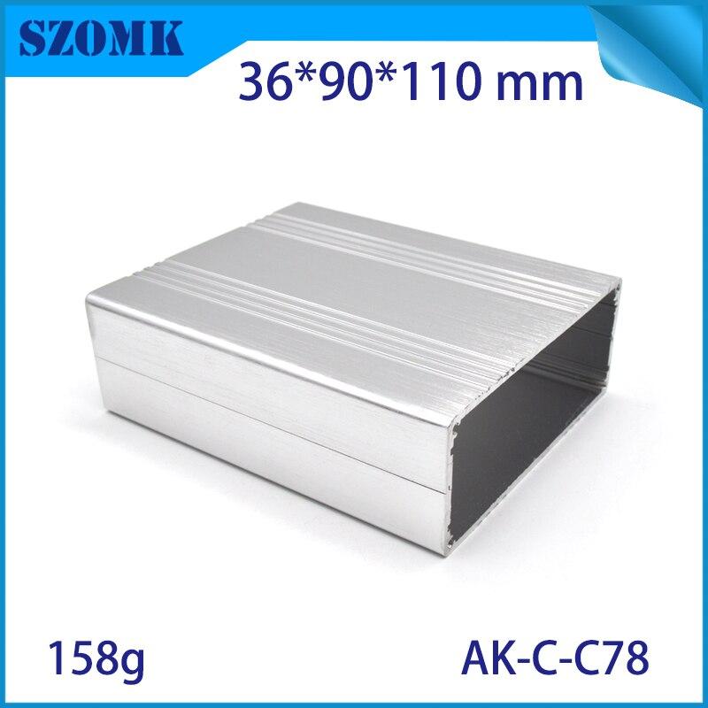 10 Pcs 36 90 110mm Black Audio Aluminum Enclosure