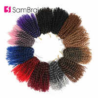 Samtresse crépus torsion cheveux Crochet tresses 8 pouces bouclés Crochet cheveux Crochet tressage cheveux Ombre synthétique Extensions de cheveux