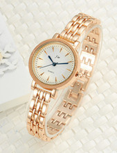 Quartz Watch Women Luxury Band Stainless Steel Rhinestone Gold Bracelet Wristwatches For Women Casual Fashion Dress Watches