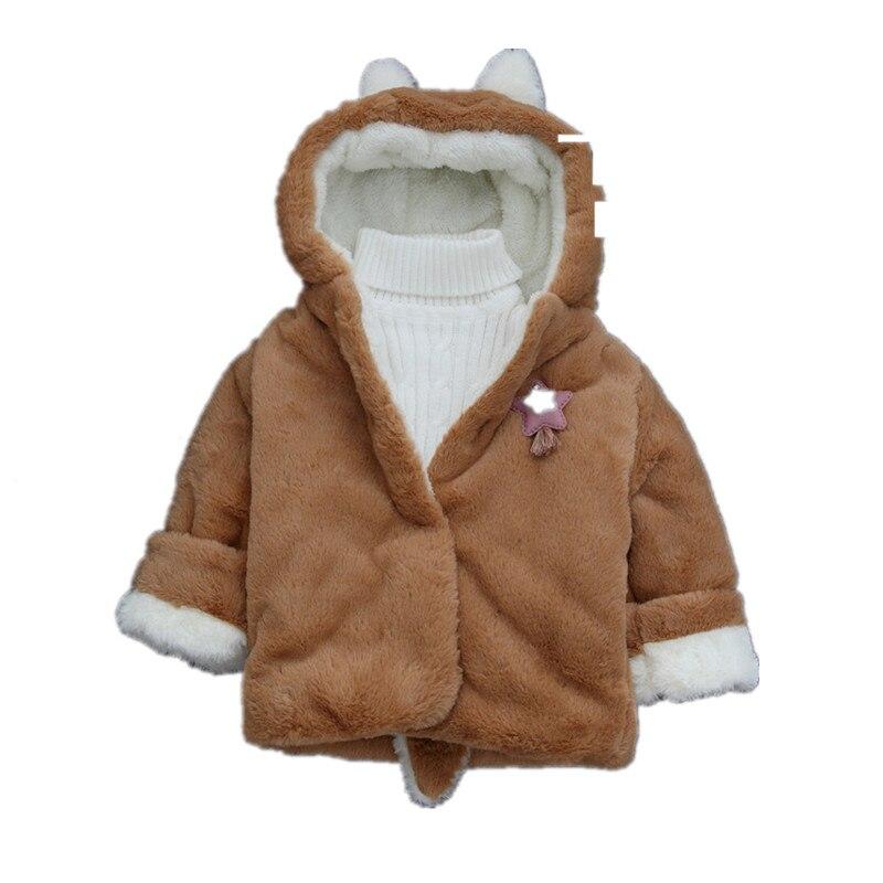 187033fb3b6c Toddler girls jacket animal rabbit design cotton spring autumn baby ...