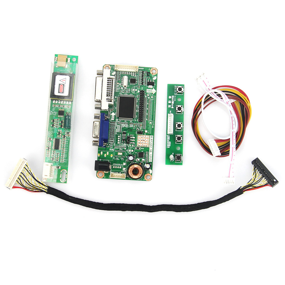 VGA+DVI M.RT2261 M.RT2281 LCD/LED Controller Driver Board  For B141EW04 V4 QD14TL02 1280x800 LVDS Monitor Reuse Laptop